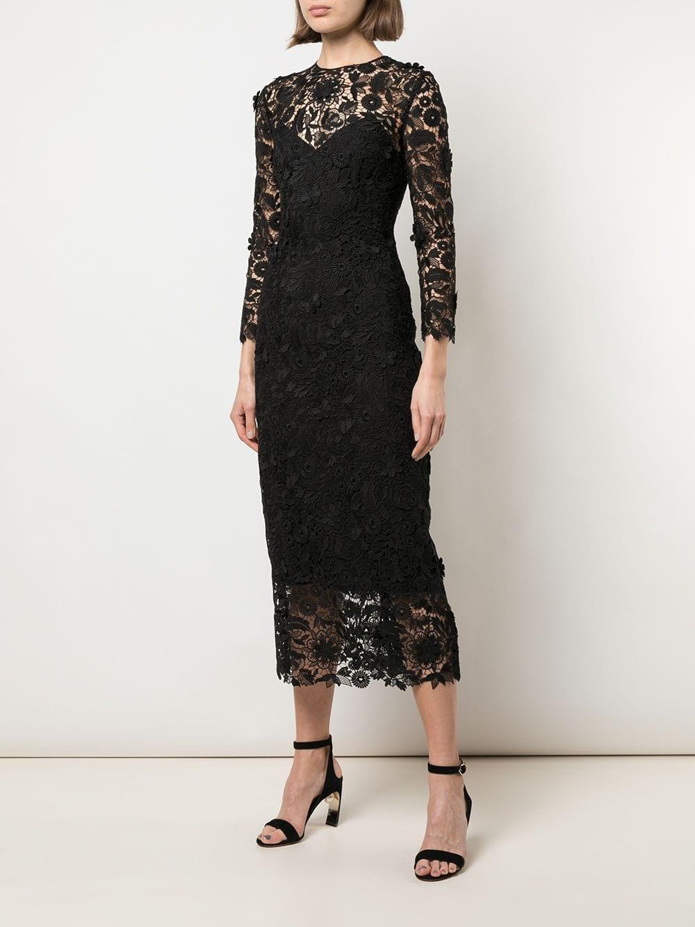 CAROLINA HERRERA Lace Midi Dress