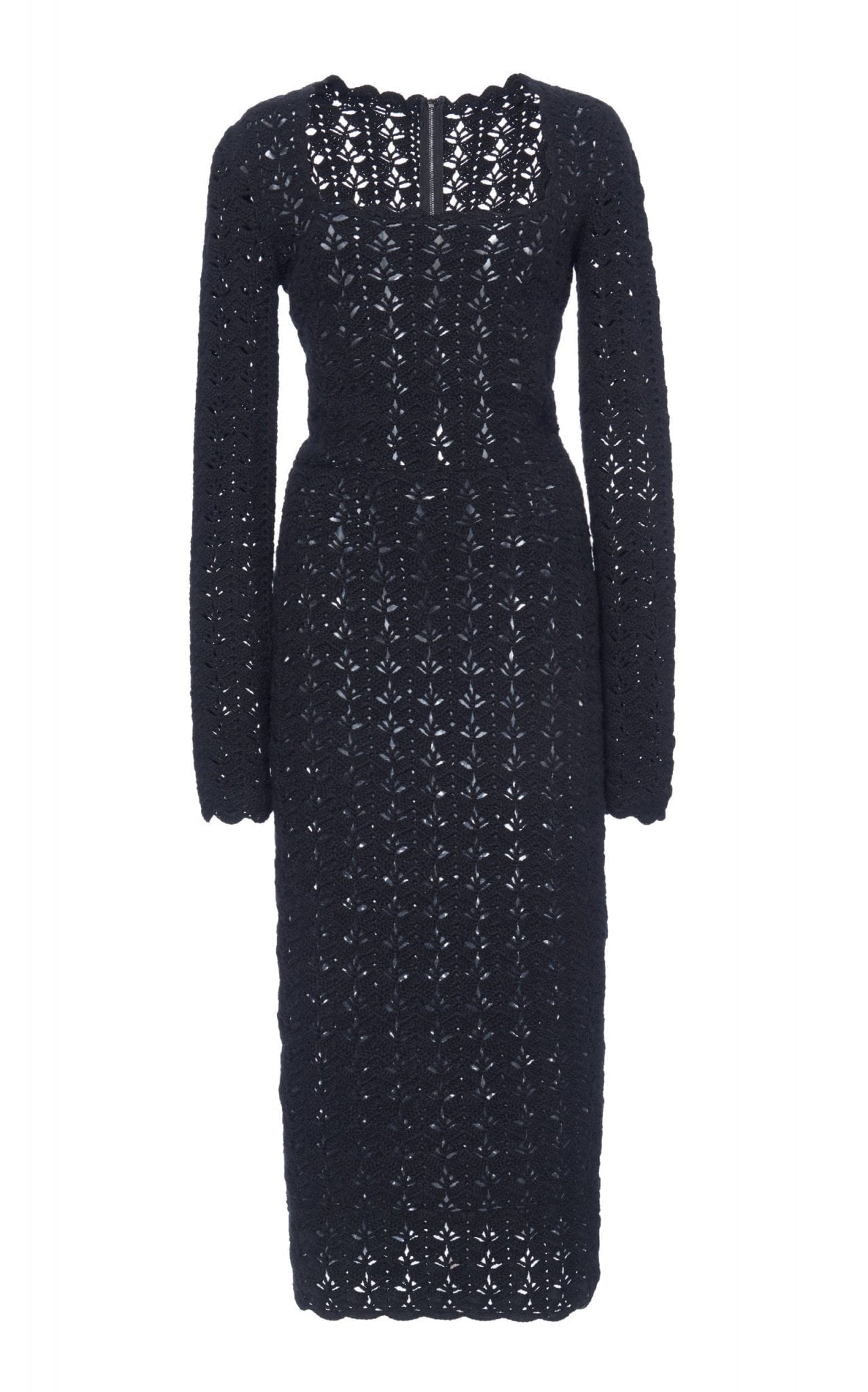 DOLCE & GABBANA Open-Knit Midi Dress