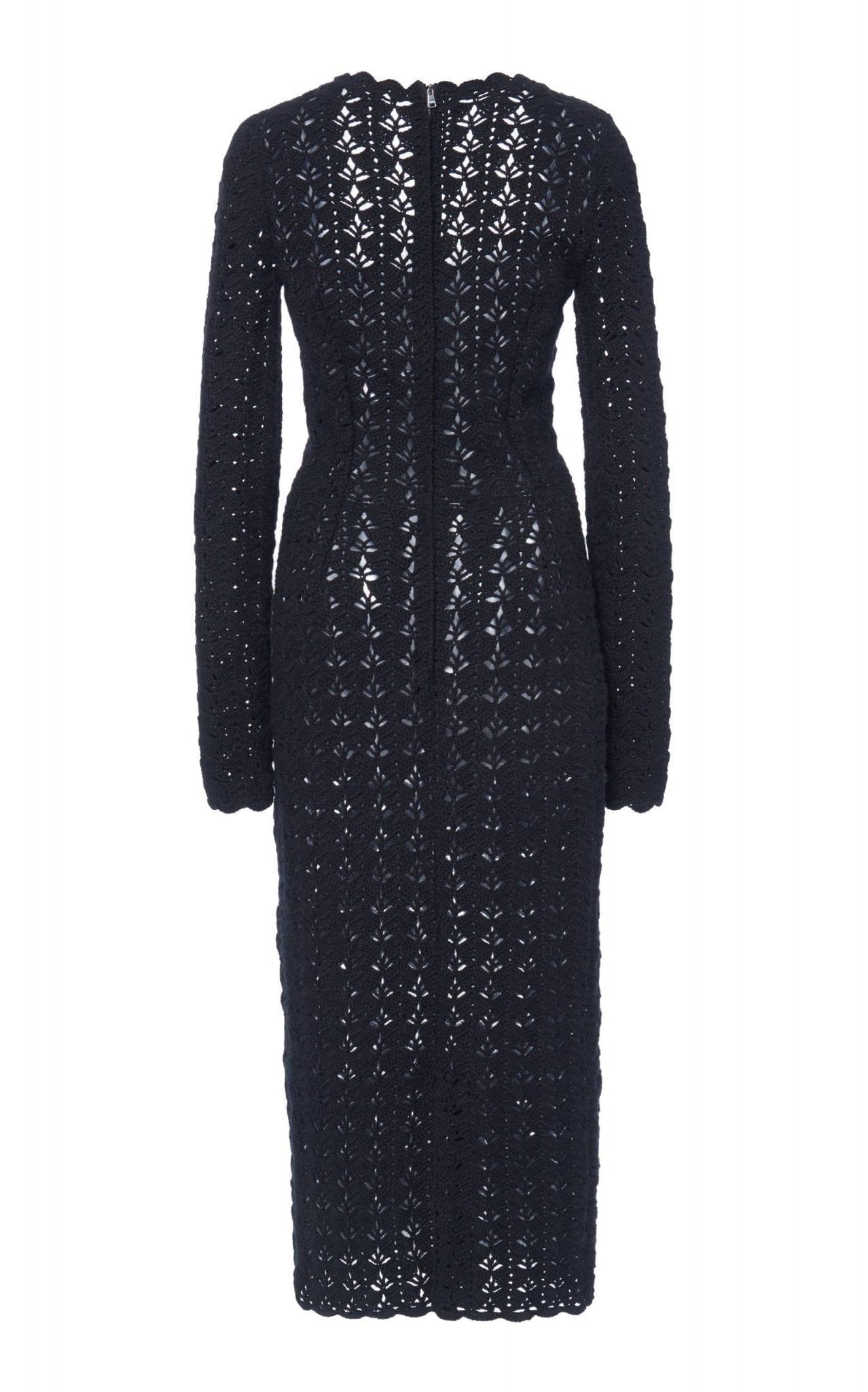 DOLCE & GABBANA Open-Knit Midi Dress