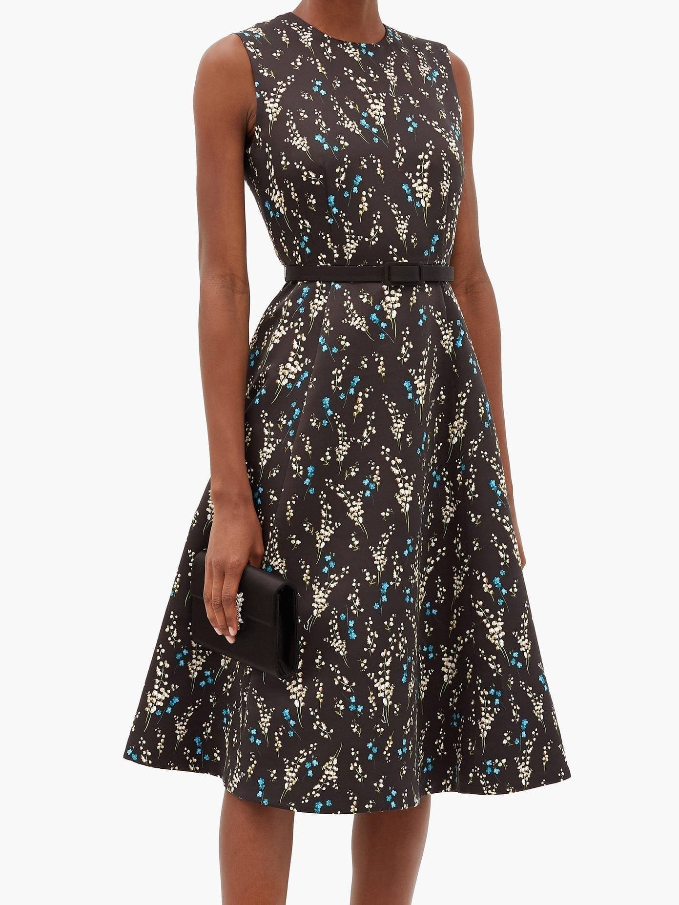 ERDEM Farrah Printed Twill Dress