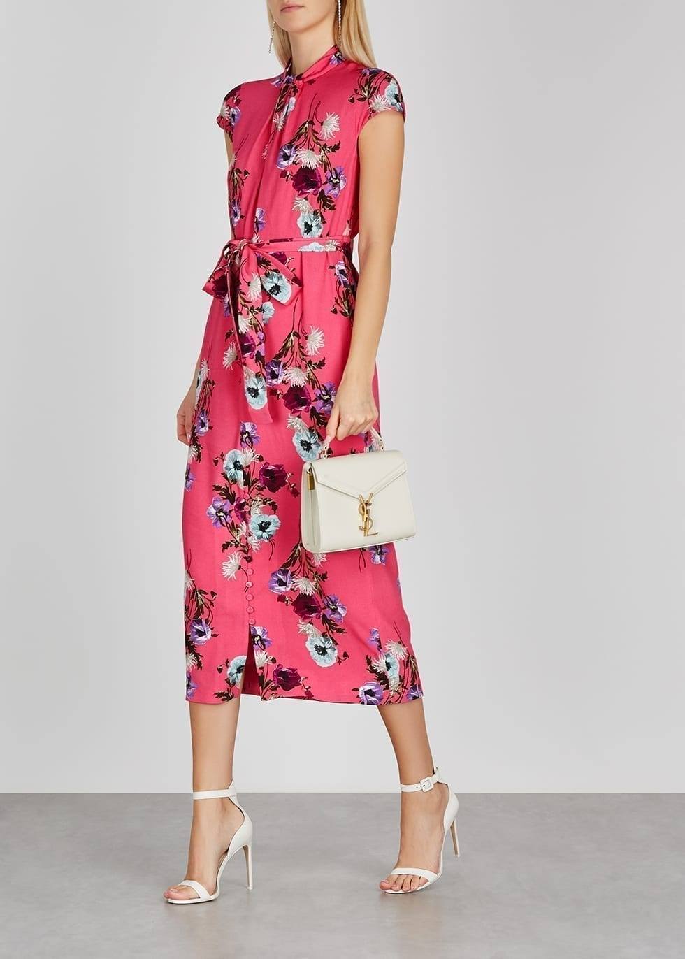 ERDEM Finn Pink Floral-print Dress