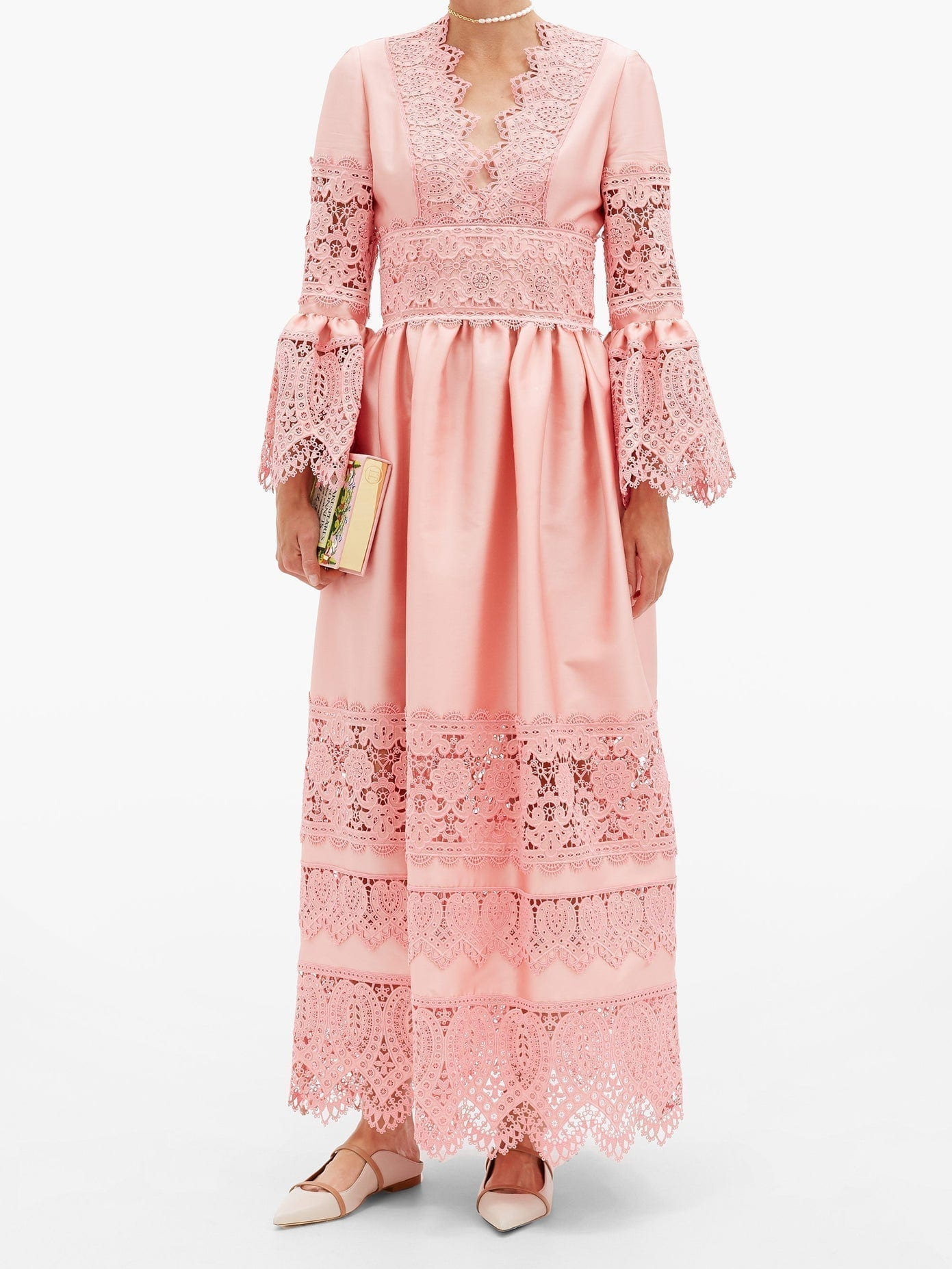 ERDEM Irmina Embroidered Mikado-satin Gown