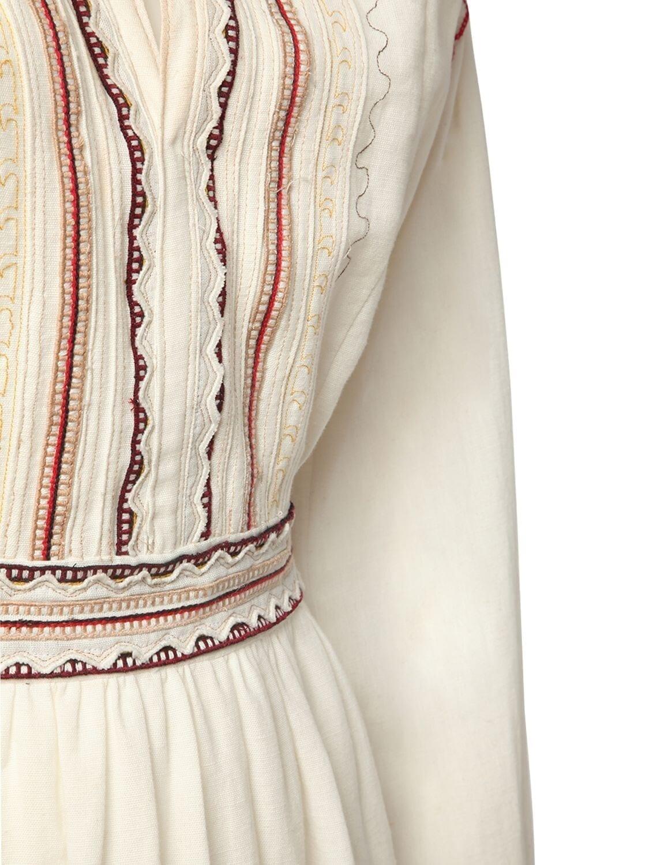 ETRO Embroidered Cotton Garza Mini Dress