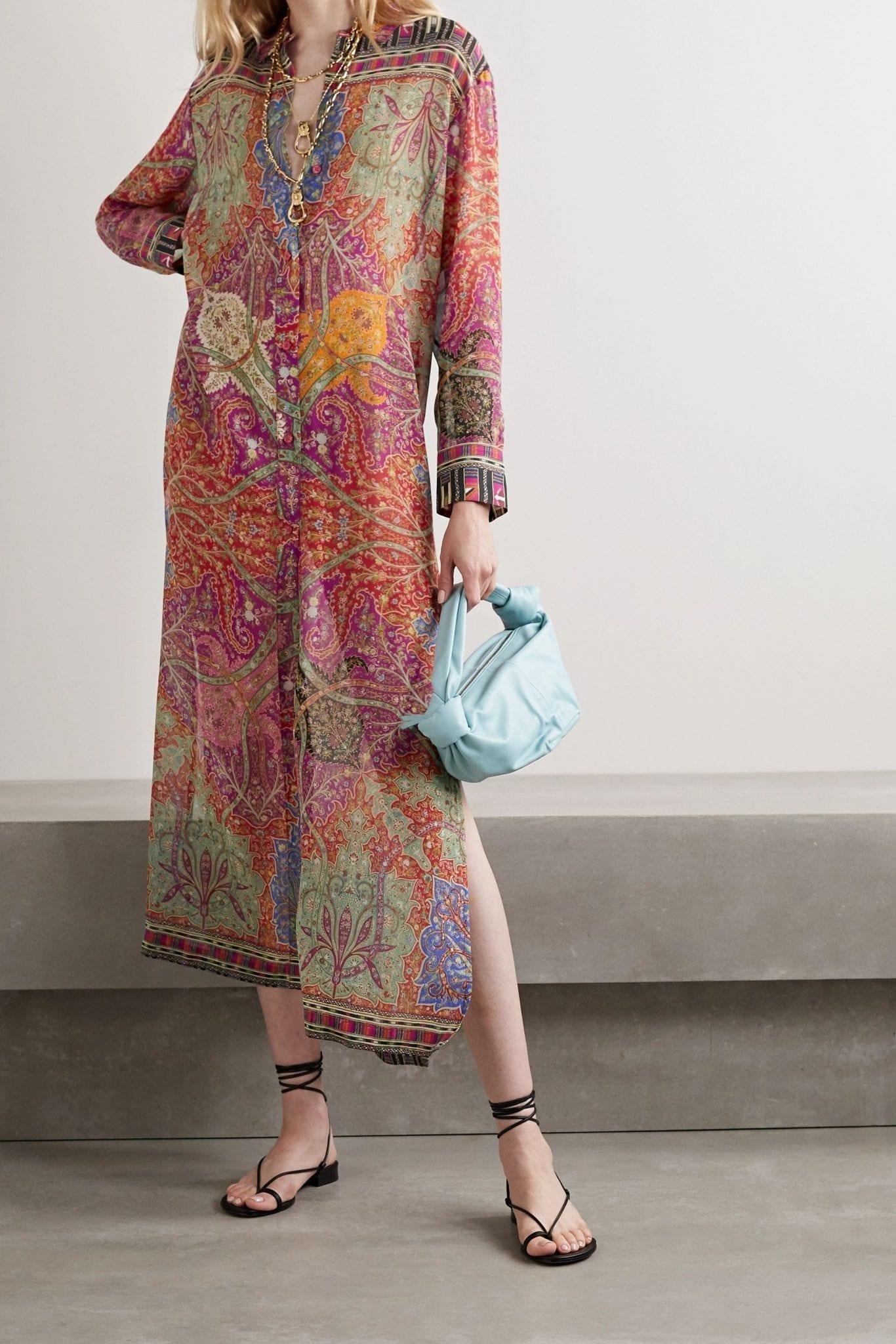 ETRO Karabair Printed Silk-georgette Maxi Dress