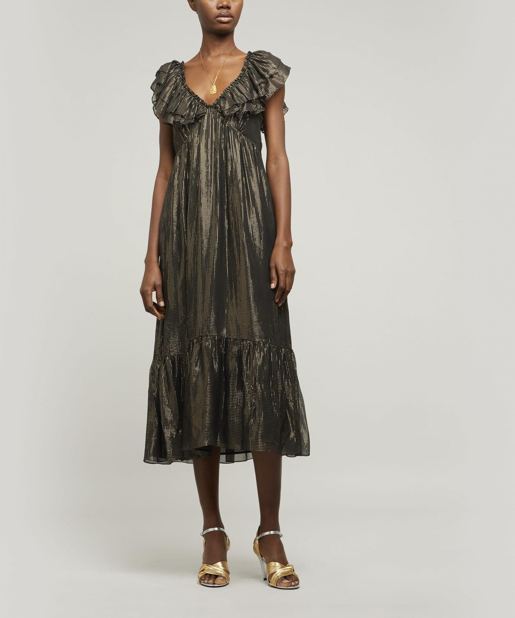 EXCLUSIVE - MASSCOB Beleza Tiered Midi-Dress