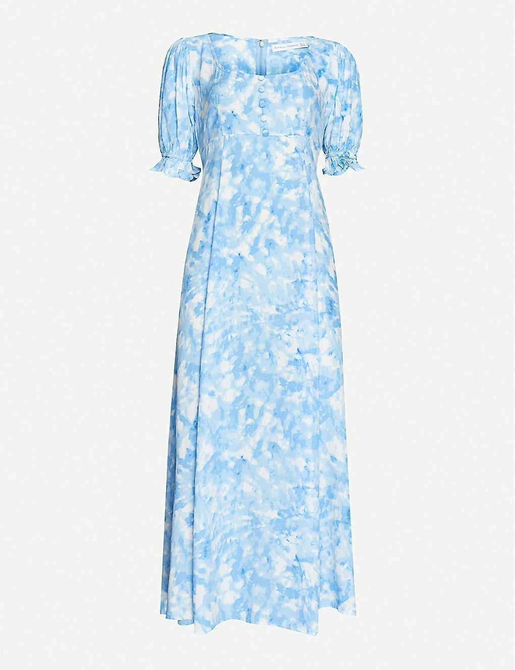 FAITHFULL THE BRAND Linnie Abstract-print Crepe Midi Dress