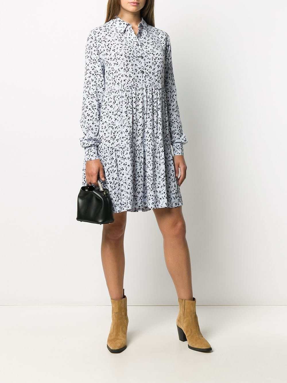 GANNI Floral-print Shirt Dress