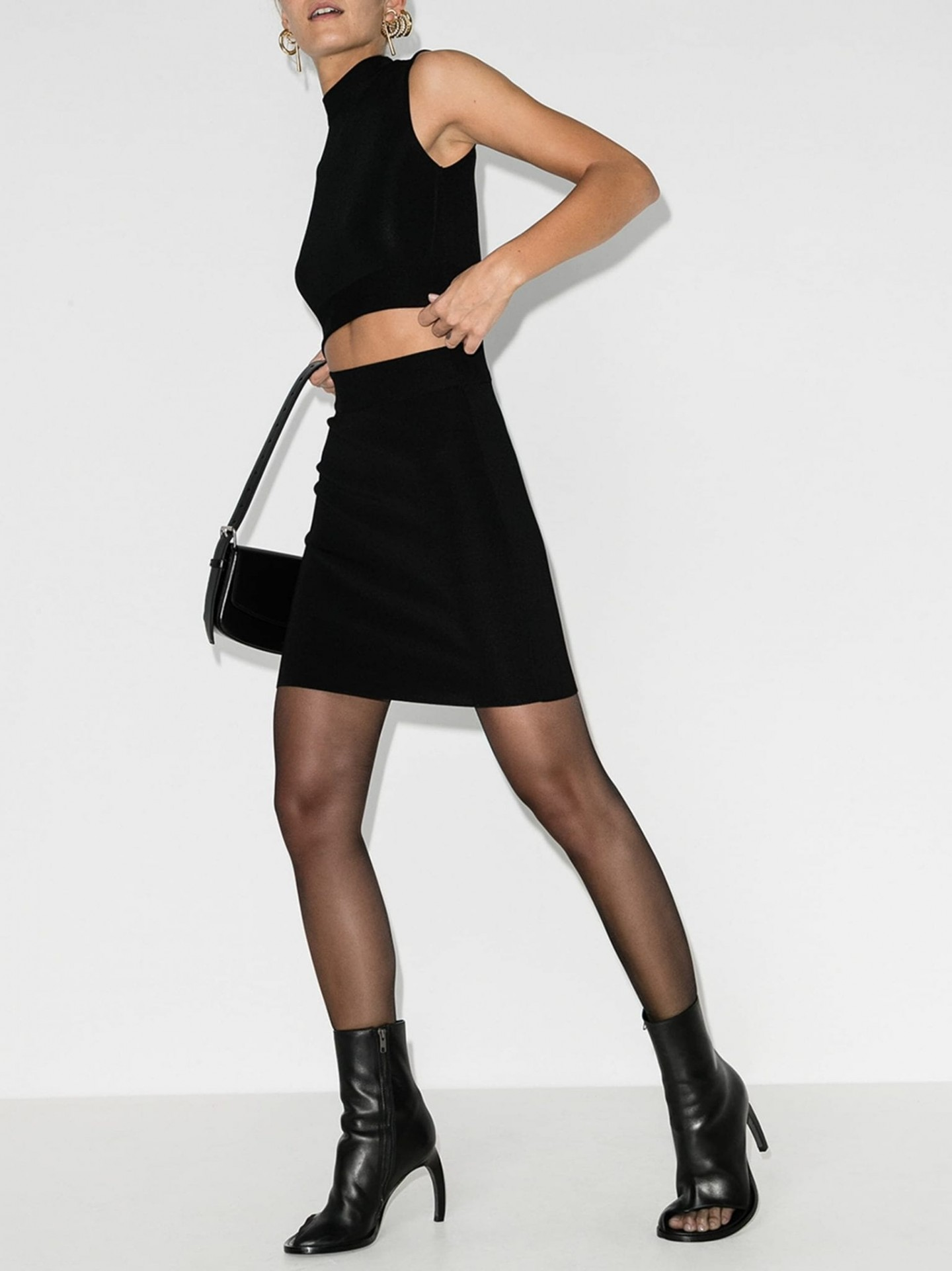 GAUGE81 Cutout High Neck Mini Dress
