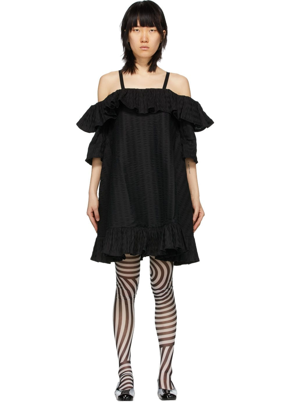 HENRIK VIBSKOV Black Seersucker Floss Dress