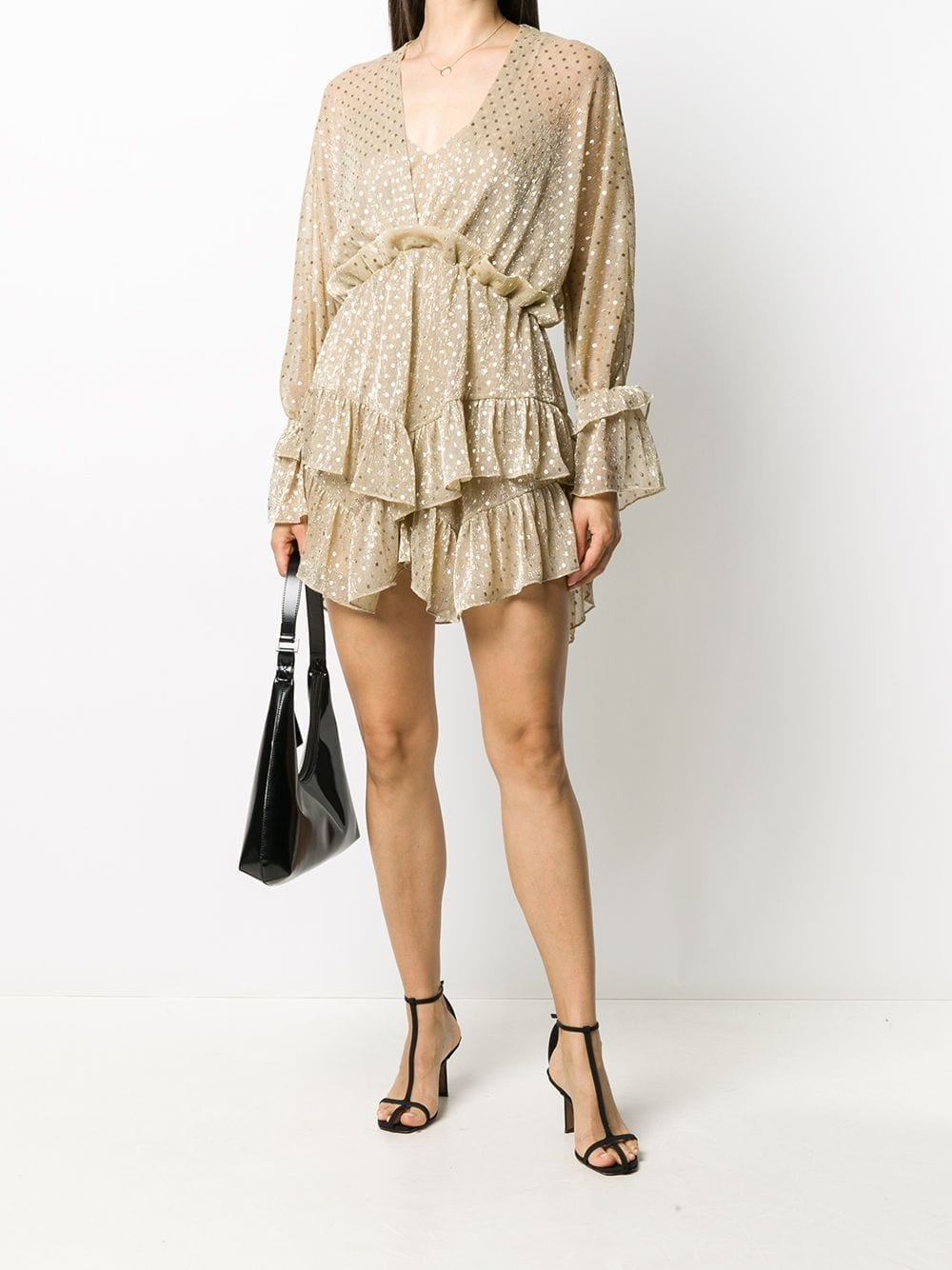 IRO Embroidered Ruffle Dress