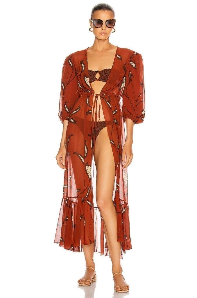 JOHANNA ORTIZ Copper Morning Mist Dress