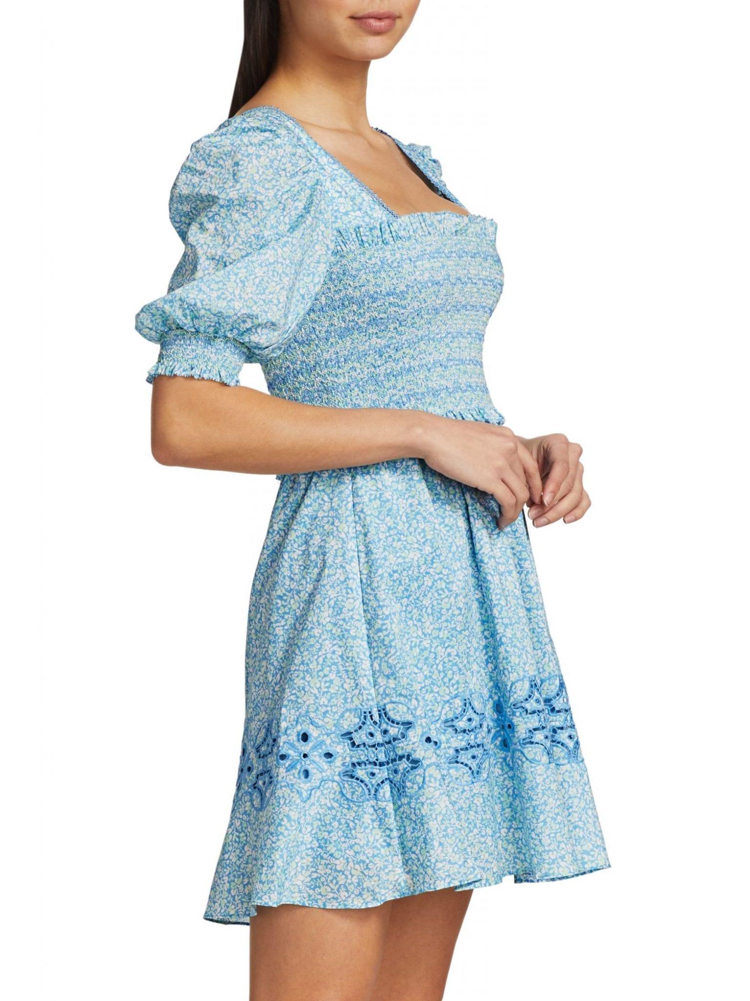 JONATHAN SIMKHAI Athena Floral Smocked Capri Dress