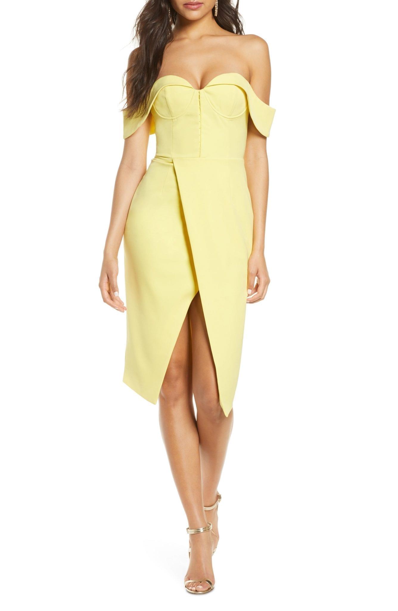 LAVISH ALICE Bustier Corset Wrap Sheath Dress