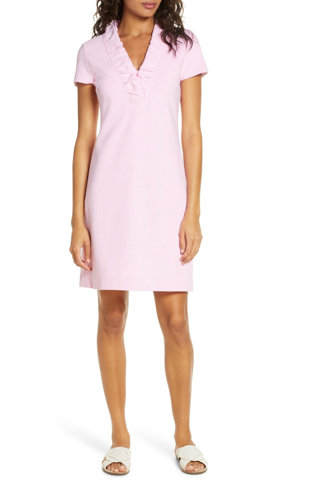 LILLY PULITZER Tisbury Stripe Ruffle Neck Dress