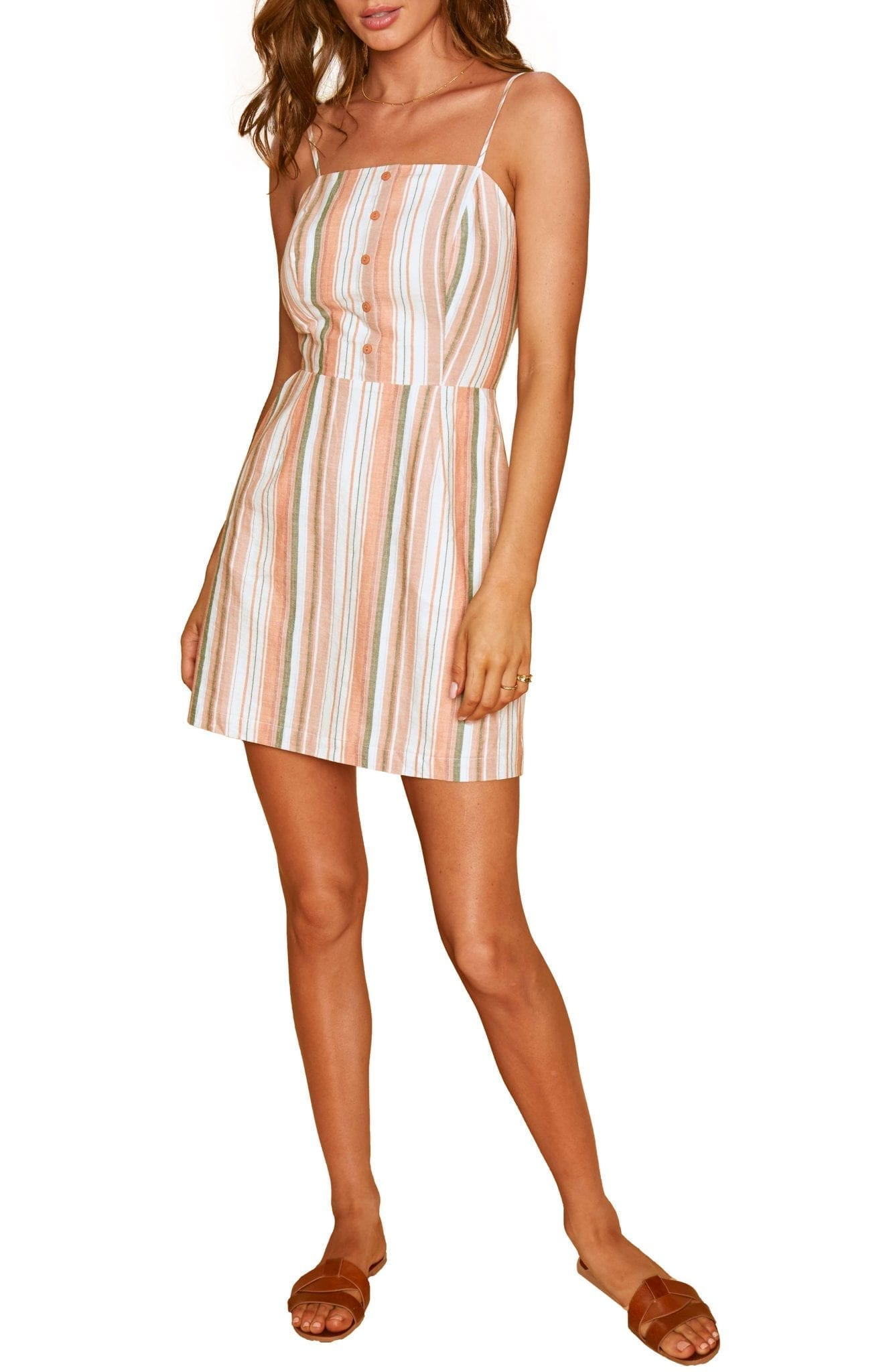 LOST + WANDER City To Country Stripe Mini Dress