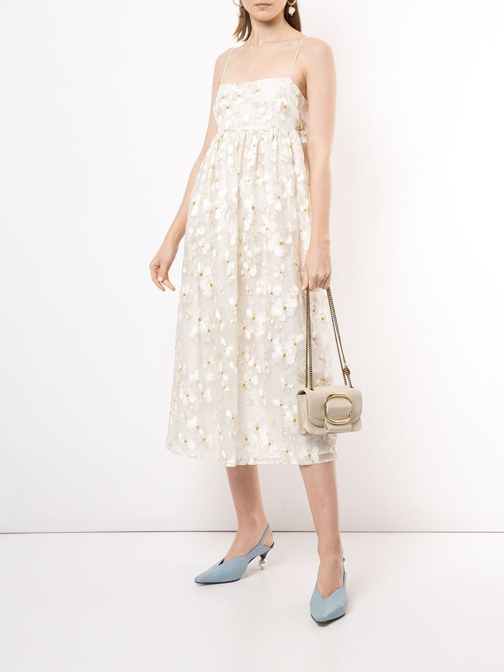MACGRAW Blubell Organza Silk Dress