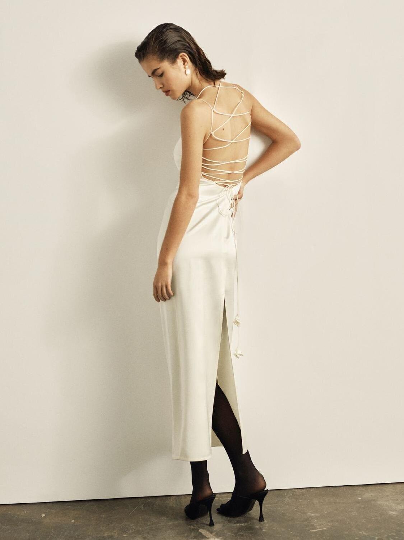 MAGDA BUTRYM Heavy Silk & Wool Satin Midi Dress