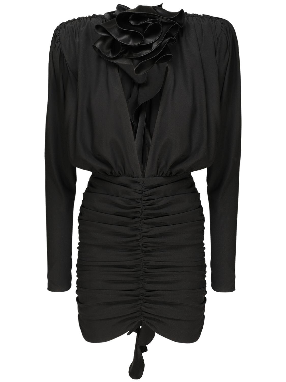 MAGDA BUTRYM Stretch Silk Satin Mini Dress