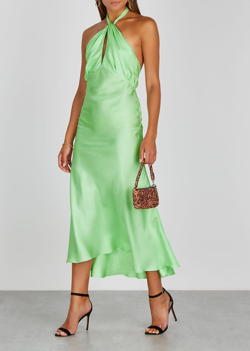 MAGGIE MARILYN She's Got Her Groove Back Silk Midi Dress
