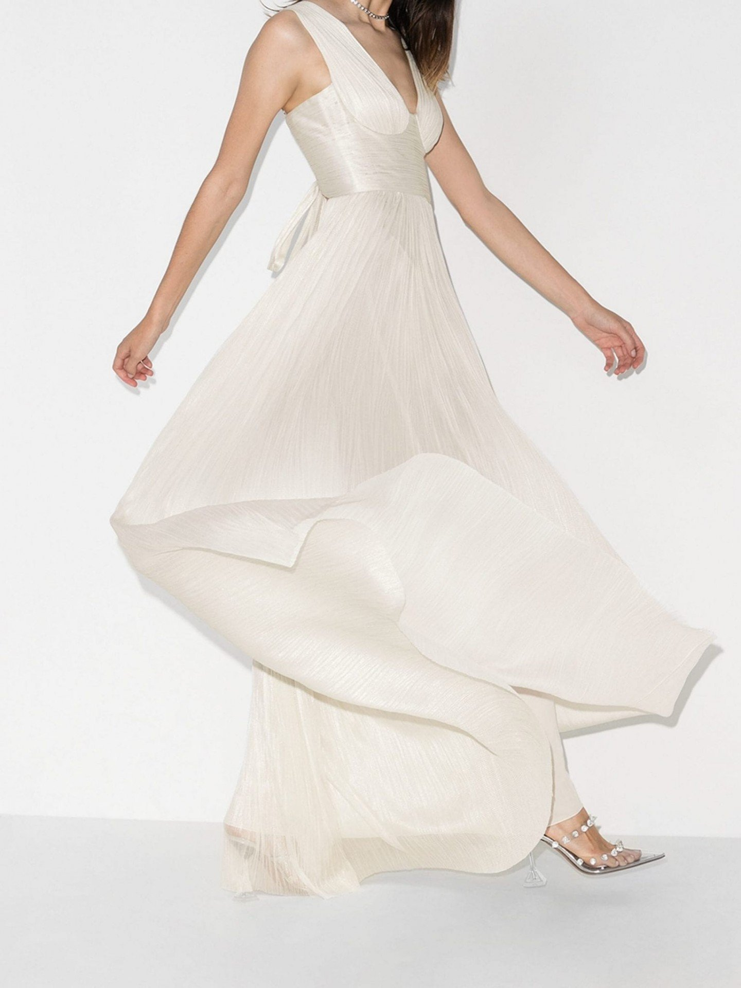 MARIA LUCIA HOHAN Velika Pleated Silk Gown