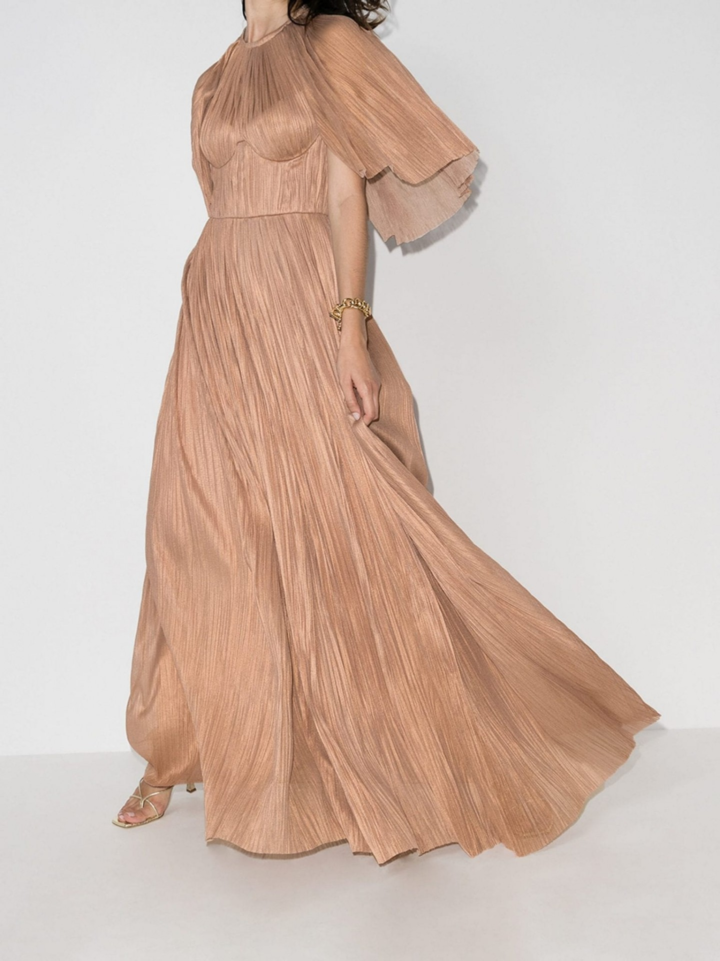 MARIA LUCIA HOHAN Velika Pleated Silk Gown