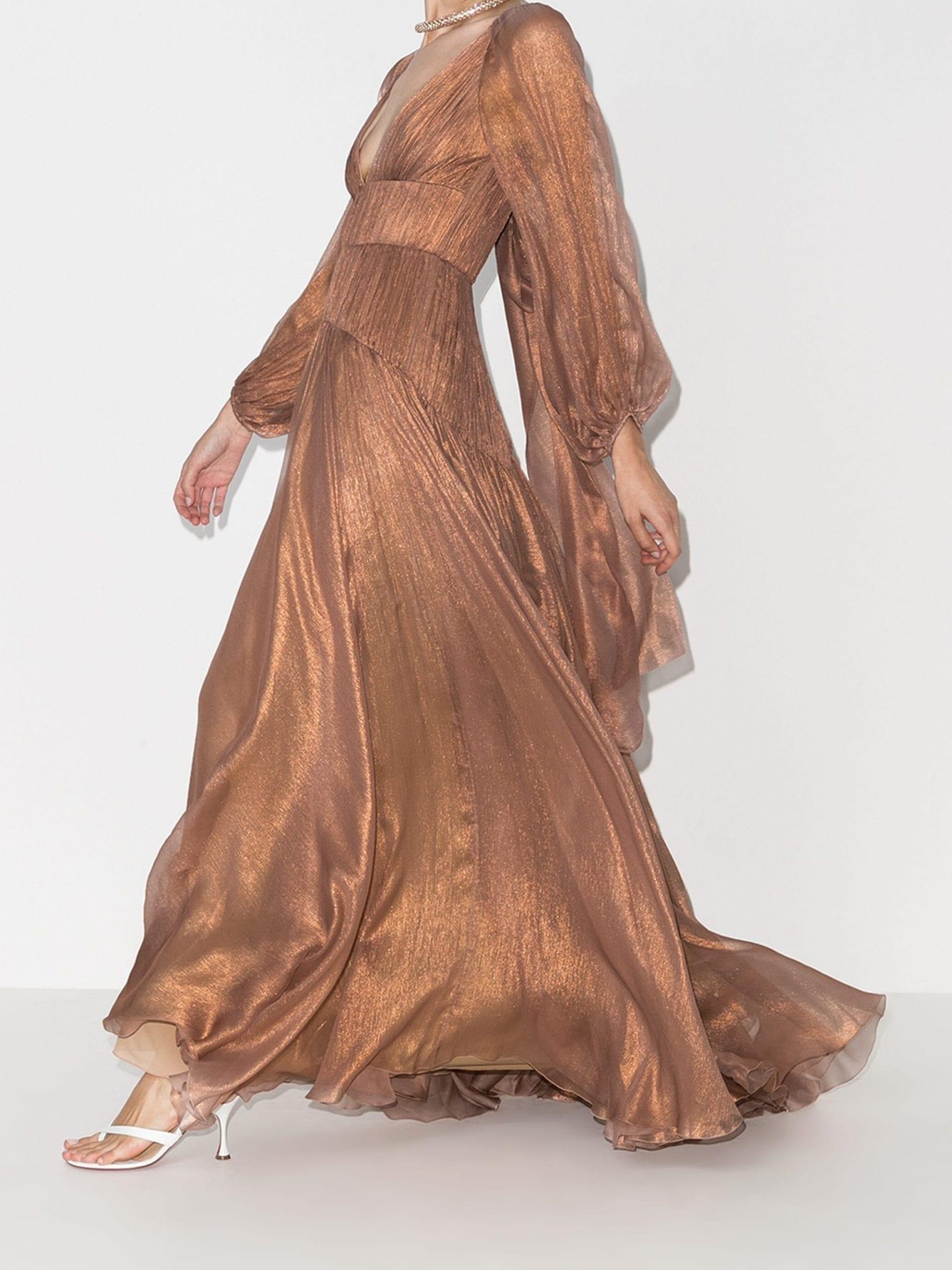MARIA LUCIA HOHAN Zeena Pleated Gown