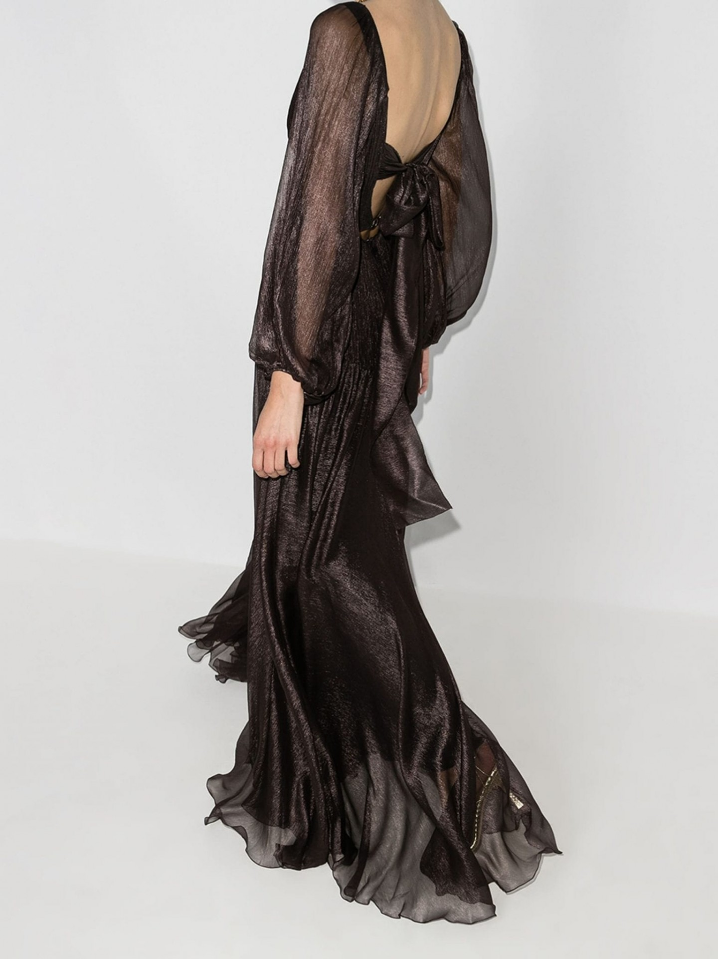 MARIA LUCIA HOHAN Zeena Ruffled Gown