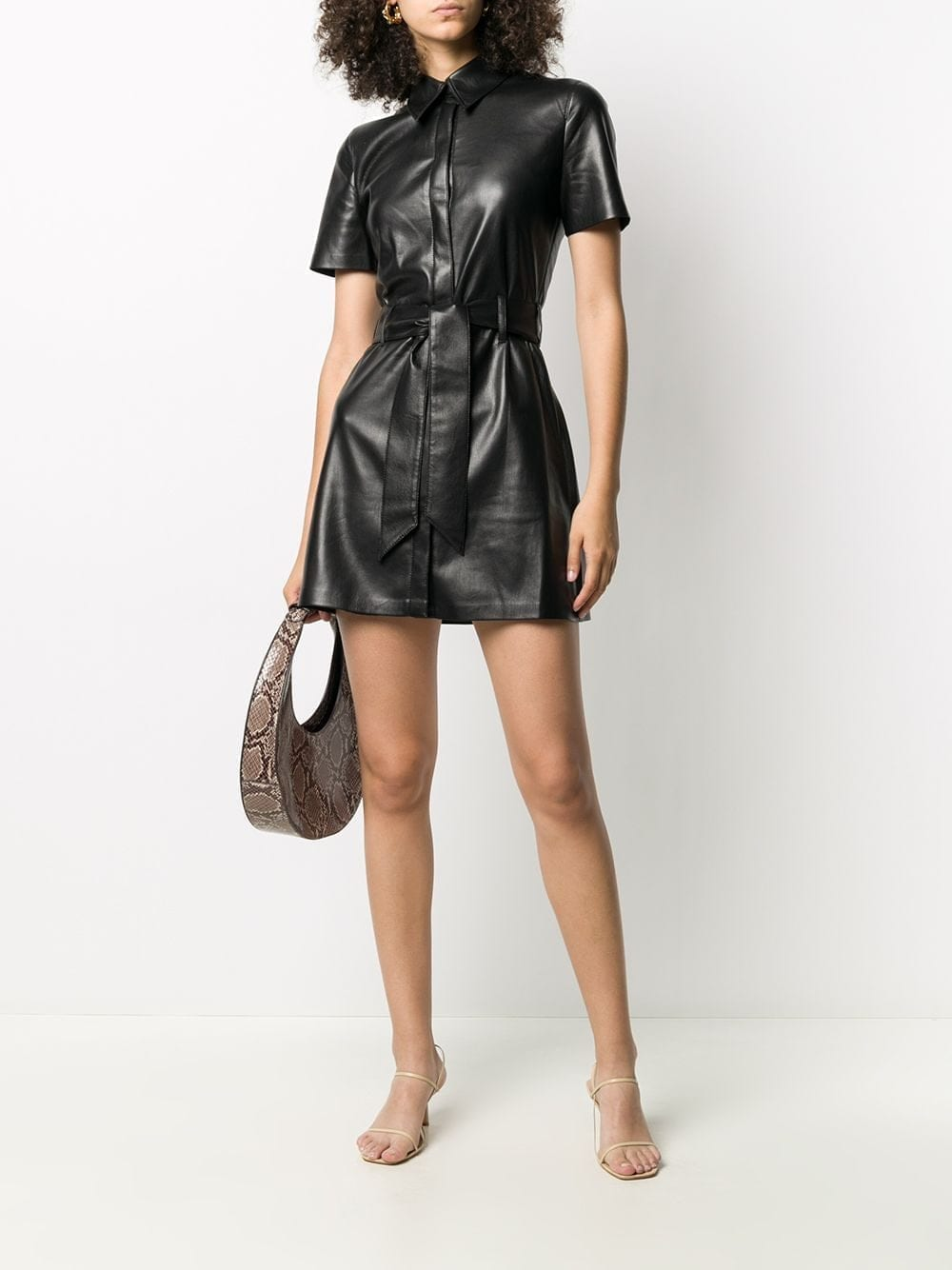 NANUSHKA Faux-leather Shirt Dress