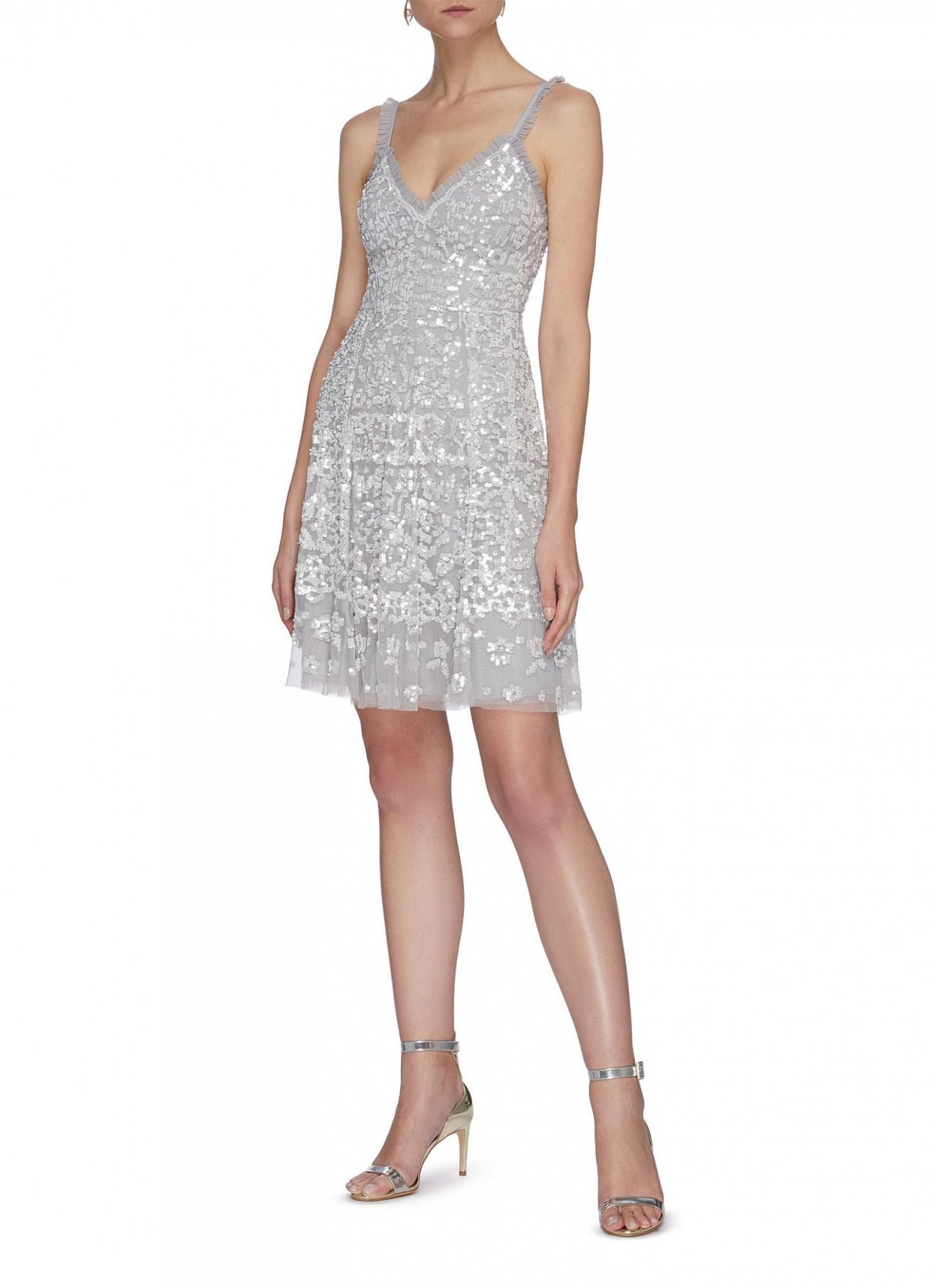 NEEDLE & THREAD Sequin Embellished Sleeveless Mini Dress