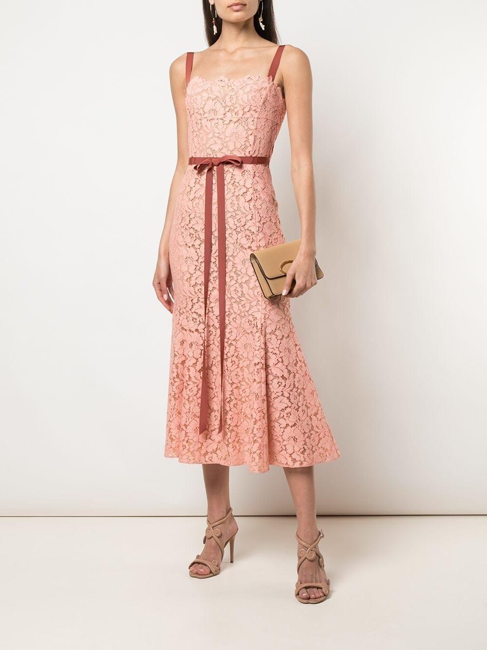 OSCAR DE LA RENTA Lace Fishtail Dress