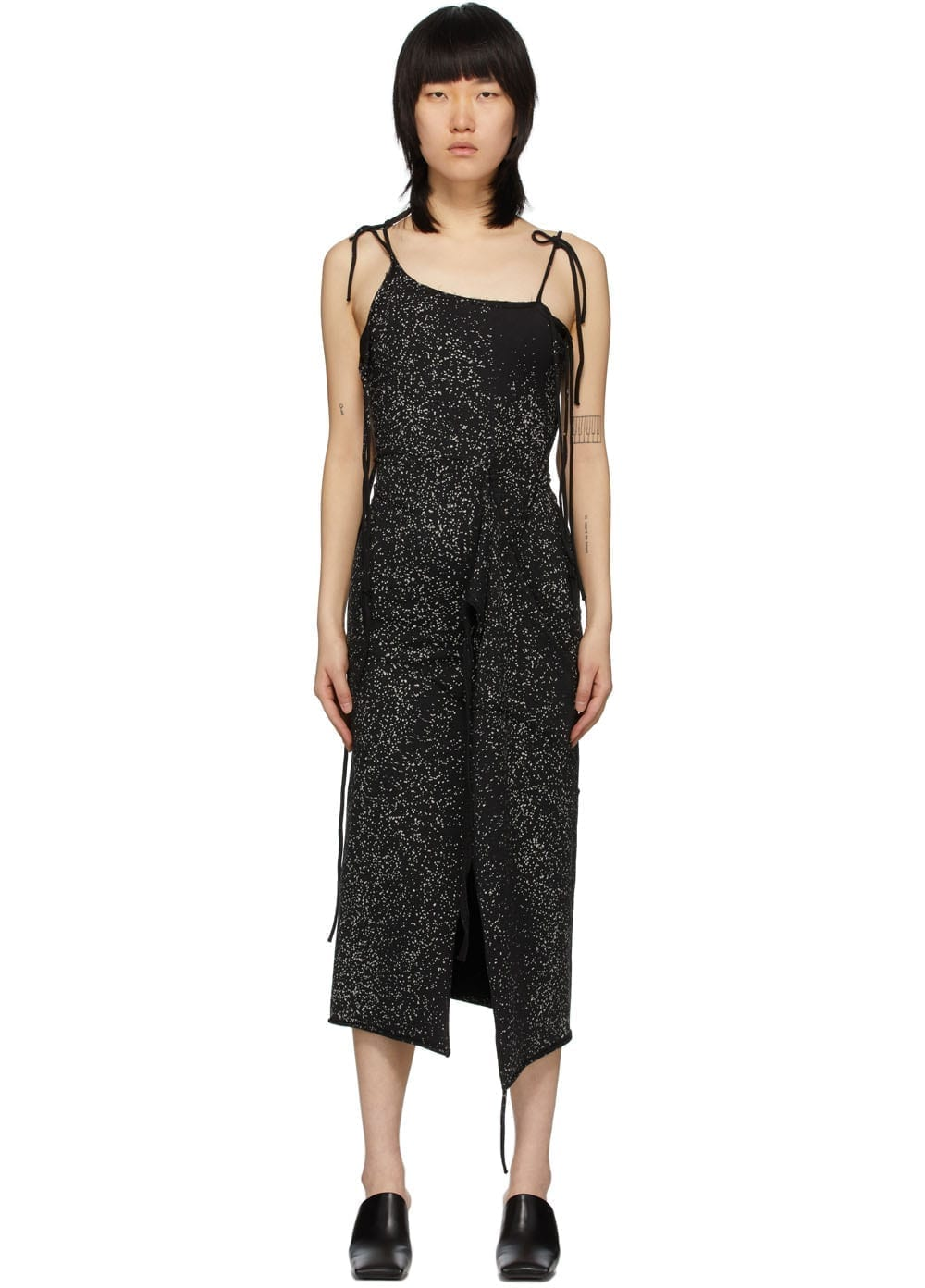 OTTOLINGER Black & Grey Speckled Strap Dress