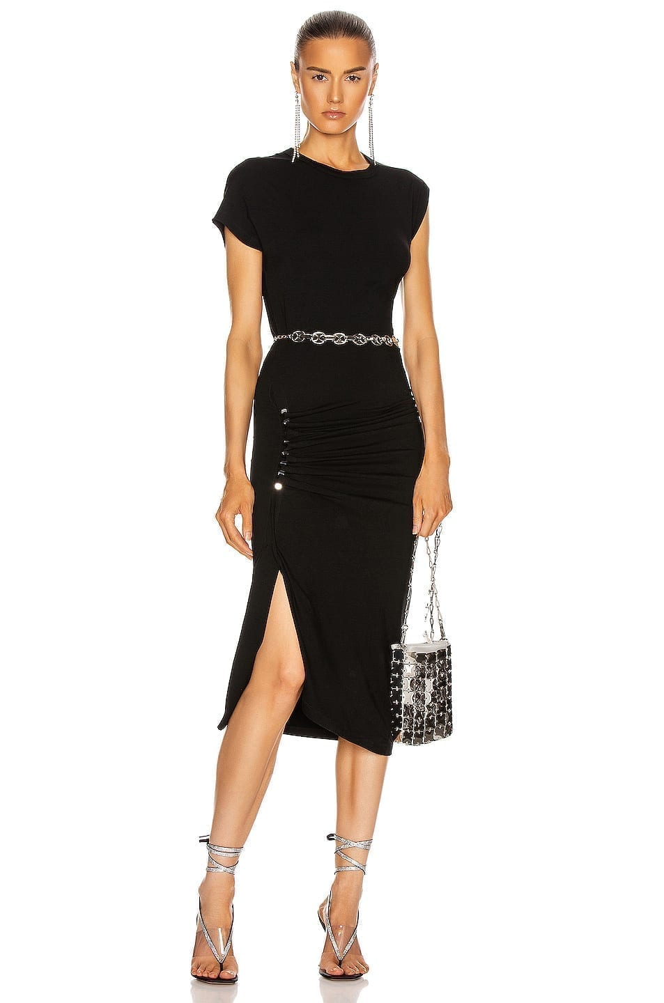 PACO RABANNE Side Ruched Dress