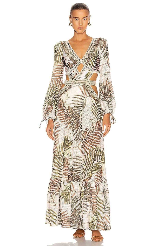 PATBO Palmeira Long Sleeve Crotchet Beach Dress