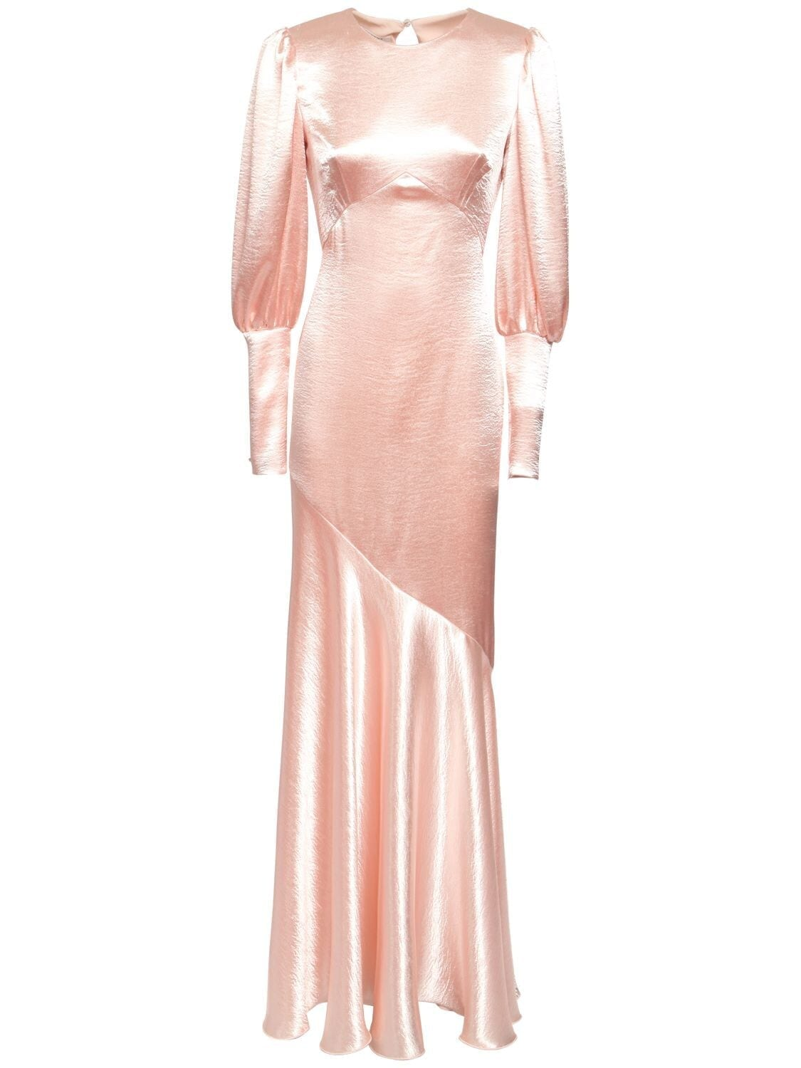 PHILOSOPHY DI LORENZO SERAFINI Flared Satin Long Dress