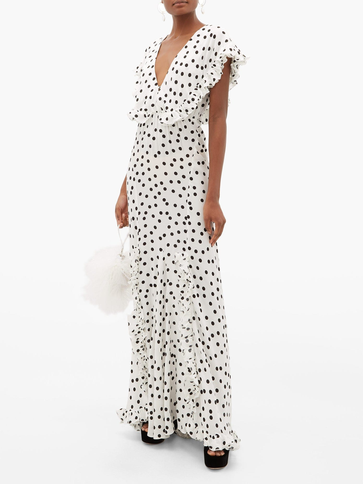 RAT & BOA Mariella Polka-dot Print Maxi Dress