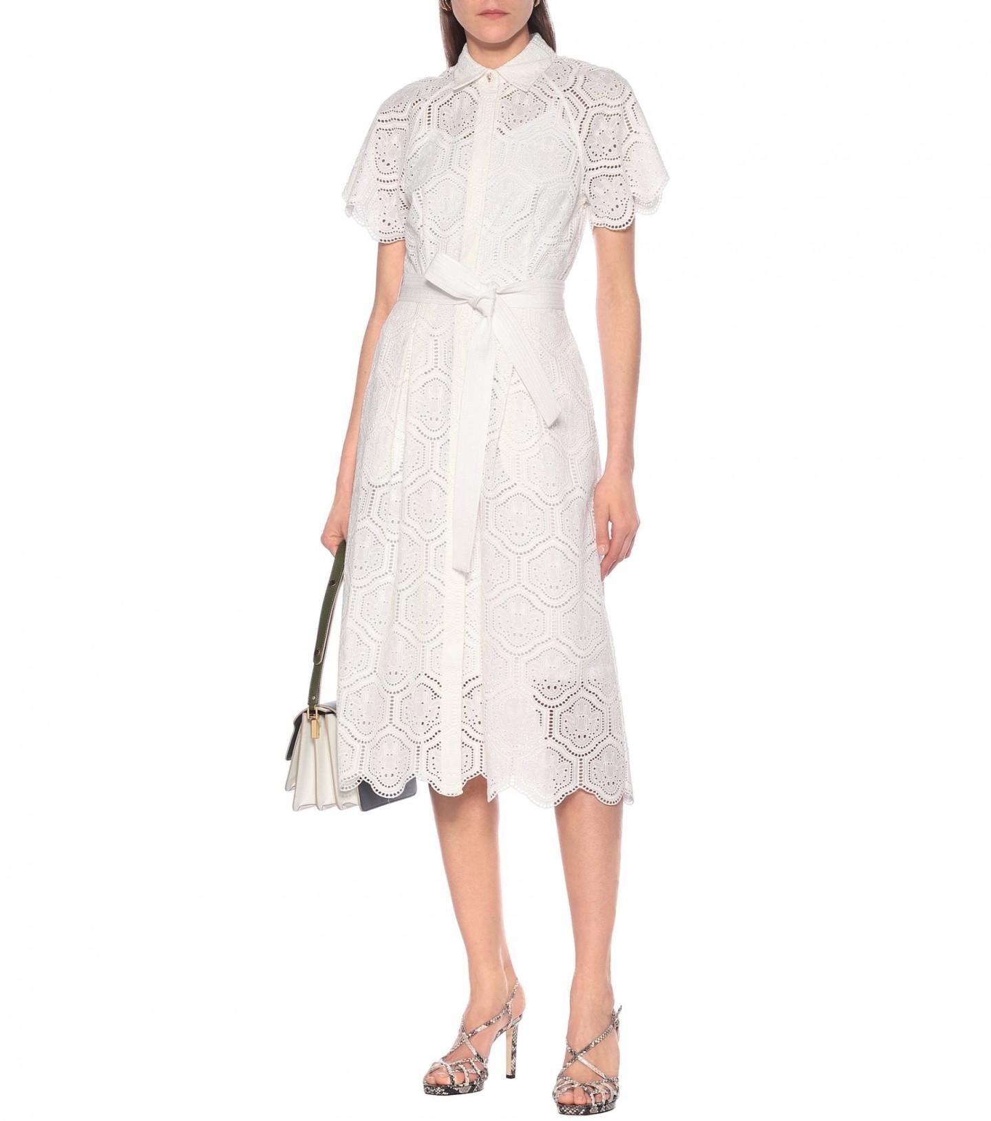 REBECCA VALLANCE Savannah Cotton Midi Dress