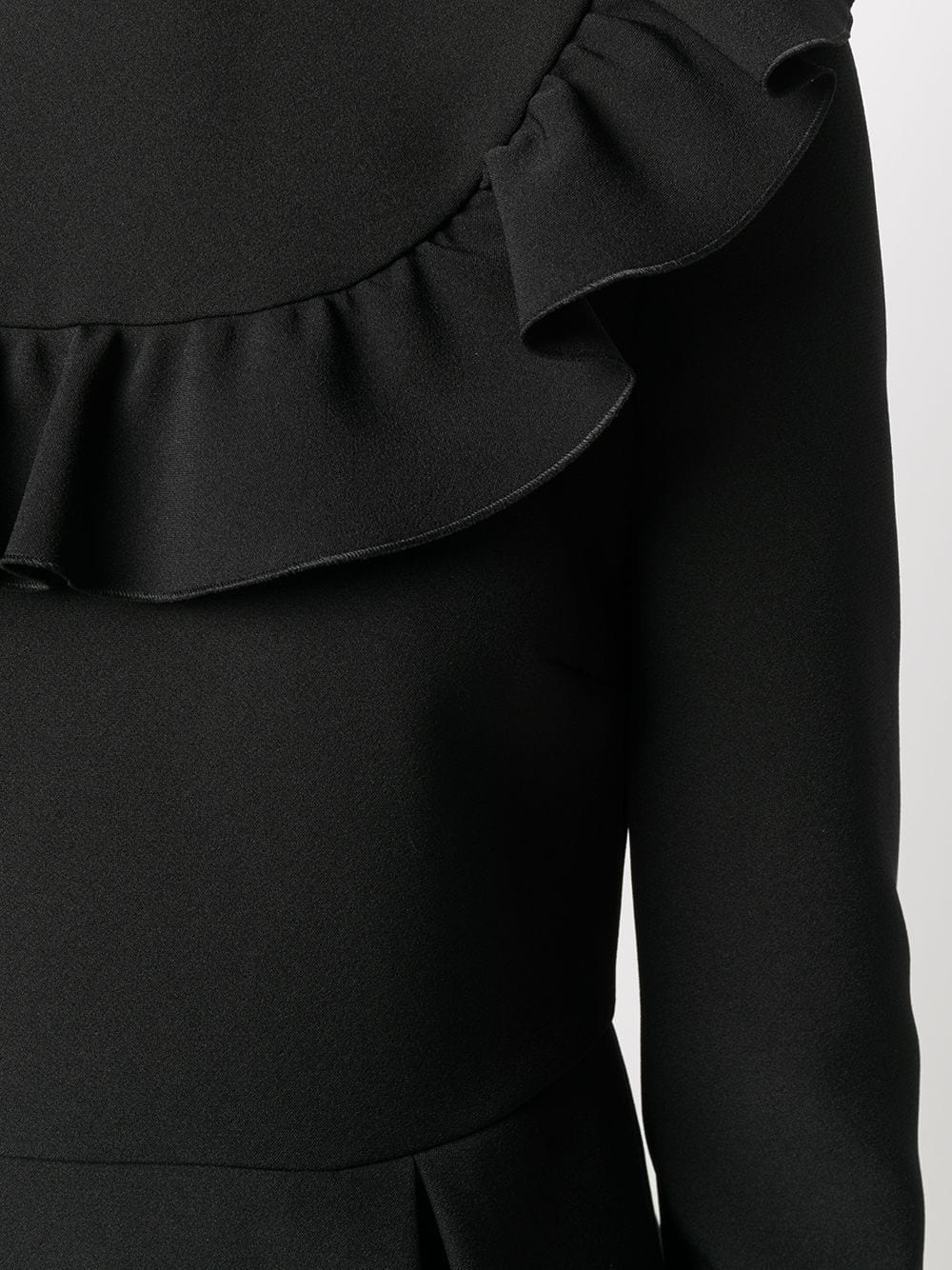 REDVALENTINO Ruffle-detail Long-sleeve Dress