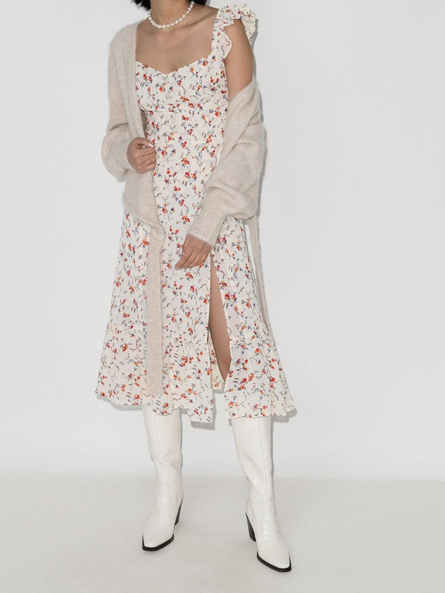 REFORMATION Bondi Floral-Print Midi Dress