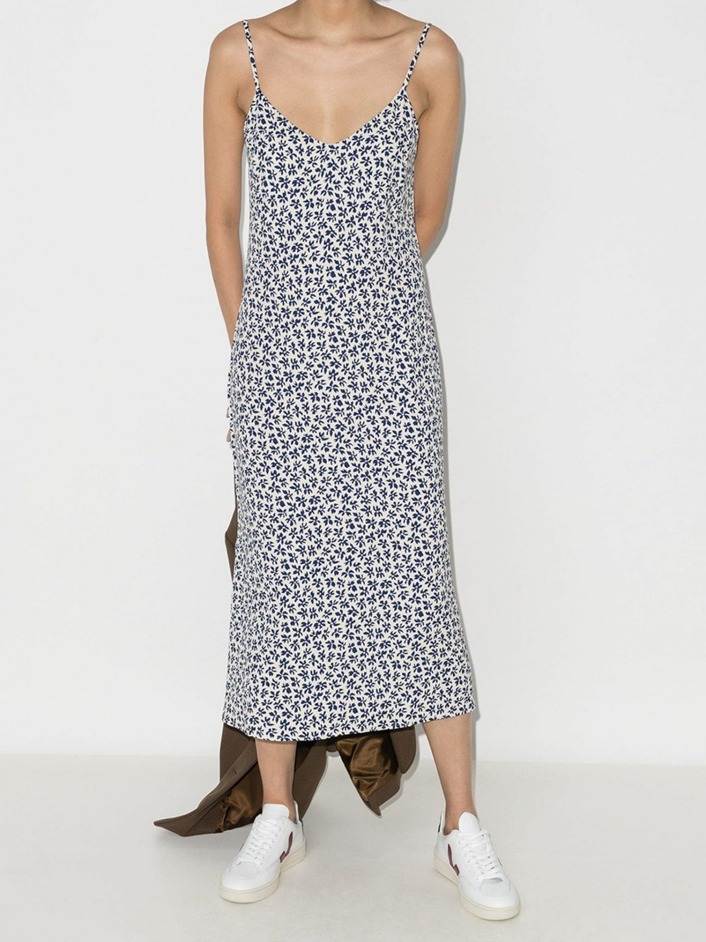 REFORMATION Boston Floral Print Midi Dress