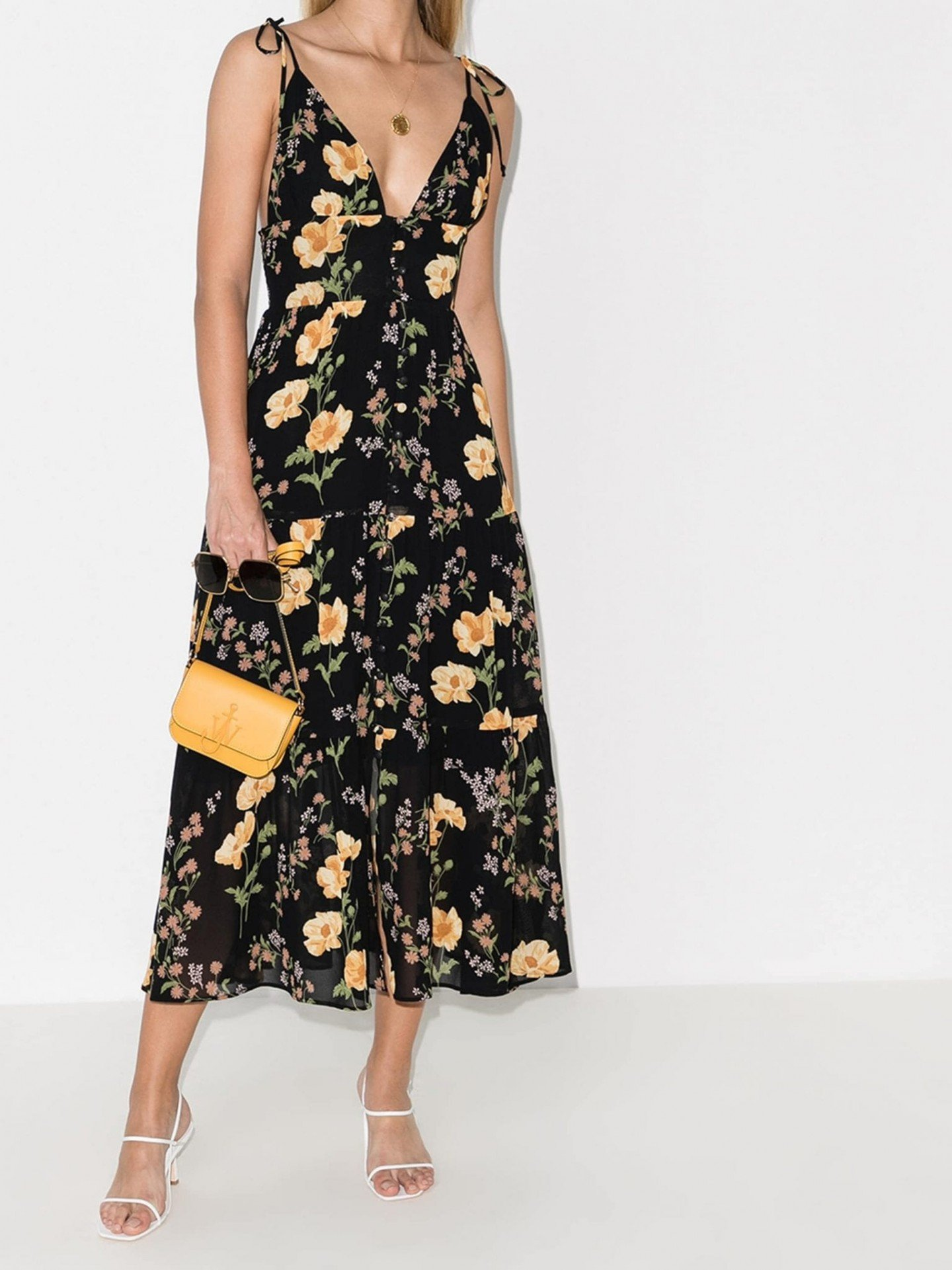 REFORMATION Jaden Floral-Print Midi Dress