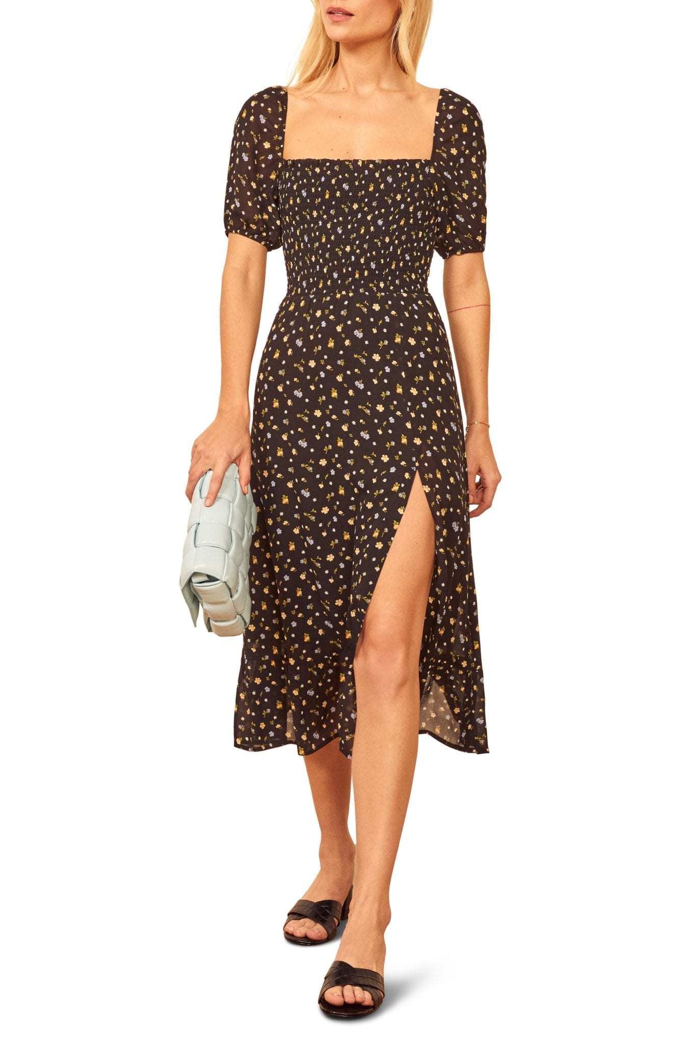 REFORMATION Meadow Floral Print Midi Dress