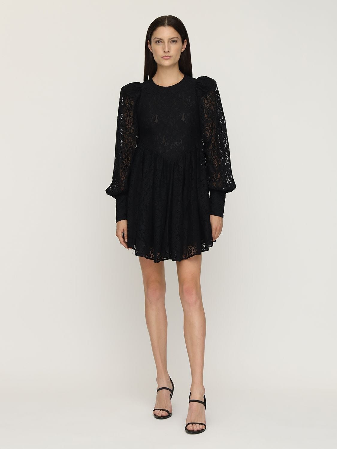 ROTATE Alison Cotton Blend Lace Mini Dress