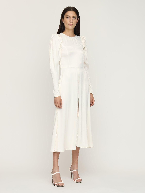 ROTATE Mathilde Satin Midi Dress
