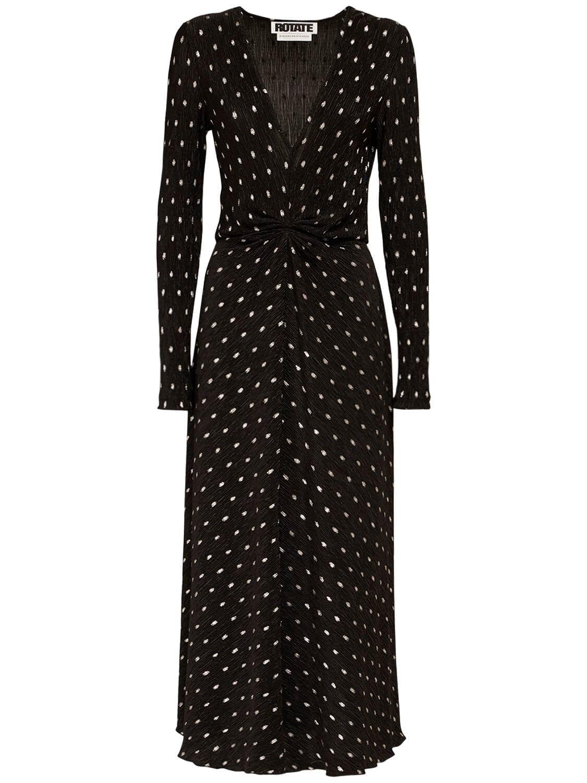 ROTATE Sierra Polka Dots Midi Dress