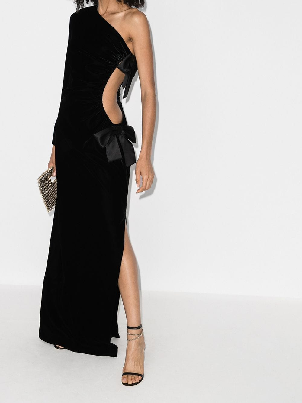 SAINT LAURENT One-shoulder Evening Gown