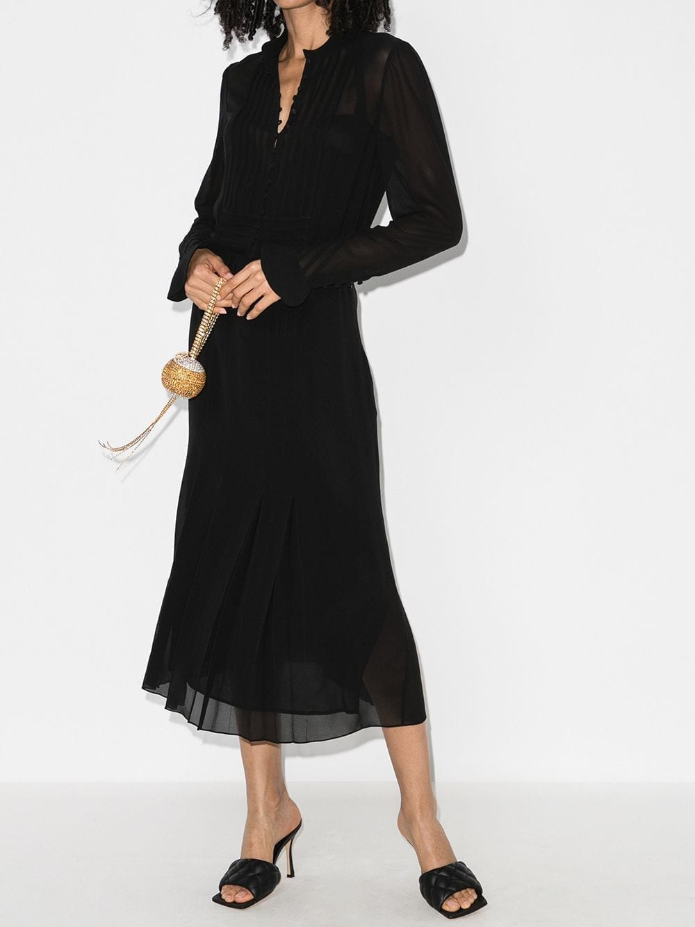 SAINT LAURENT Sheer Shirt Dress