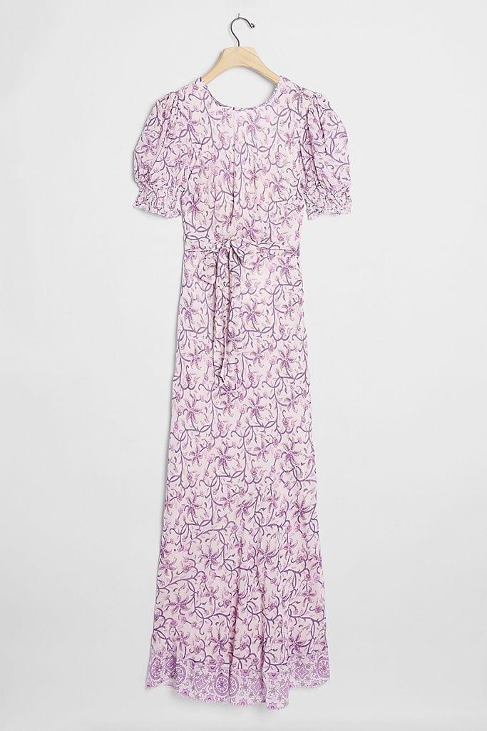 SAYLOR NYC Amarette Puff-Sleeved Maxi Dress