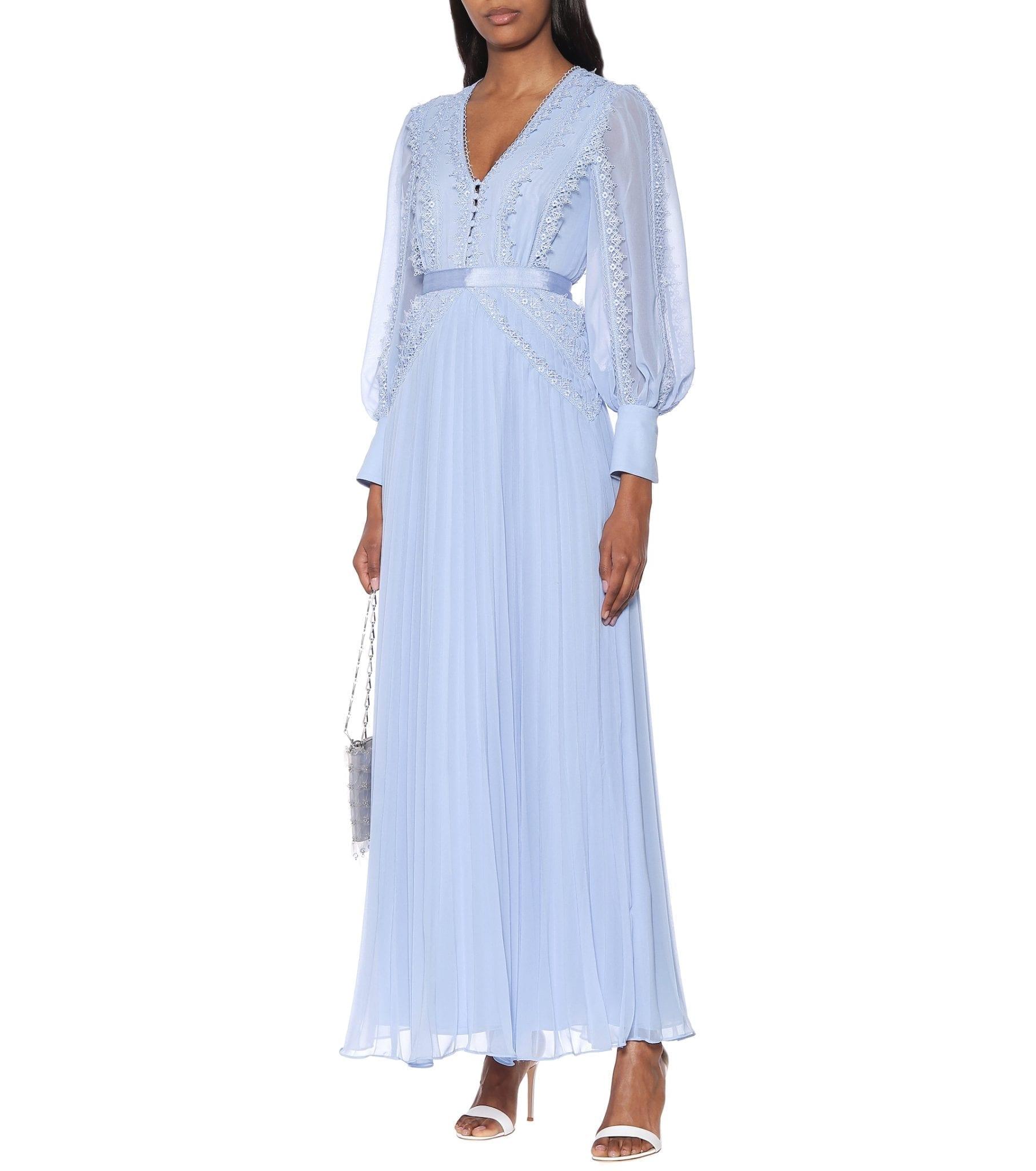 SELF-PORTRAIT Chiffon Maxi Dress
