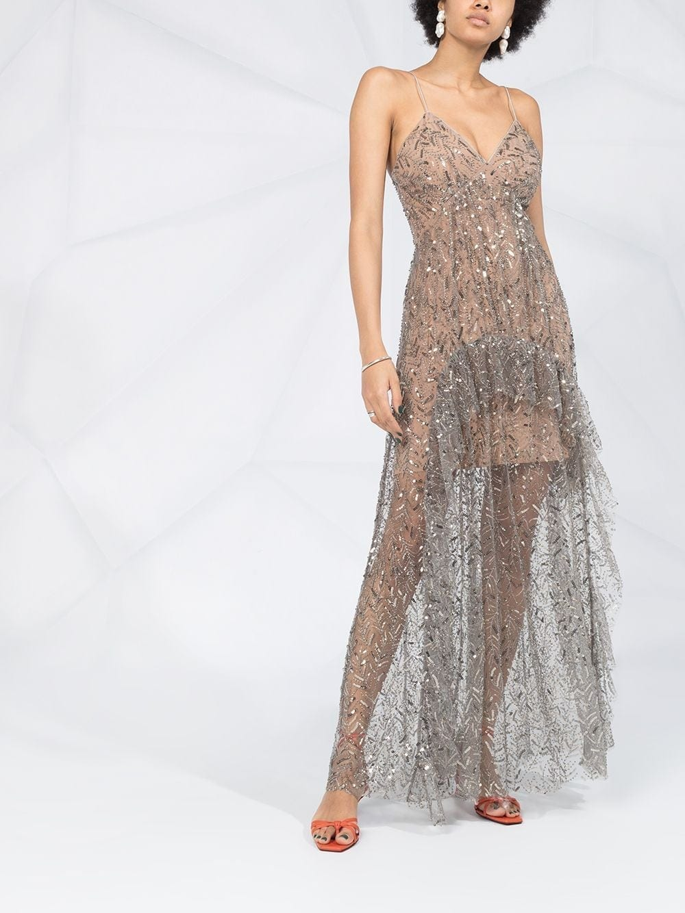 SELF-PORTRAIT Embellished Empire Line Gown