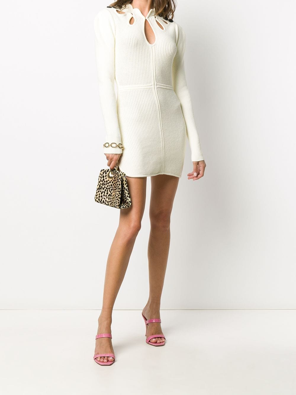 SELF-PORTRAIT Knitted Cut-out Dress
